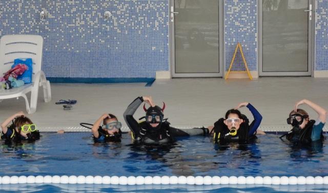 Детский дайвинг в подводном клубе Виктор и К