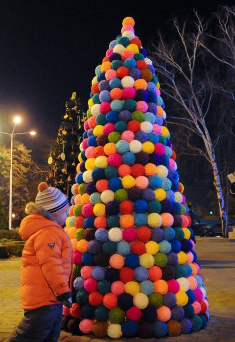Необычные новогодние елки в Краснодаре 3