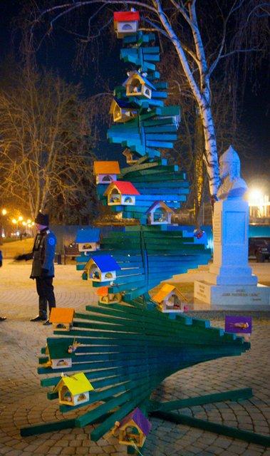 Необычные новогодние елки в Краснодаре 4