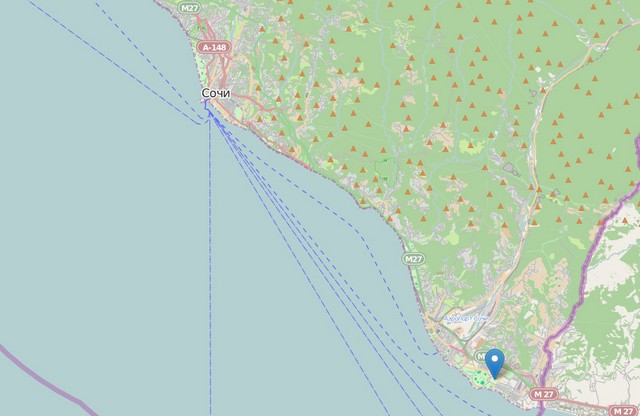 Карта Сочи