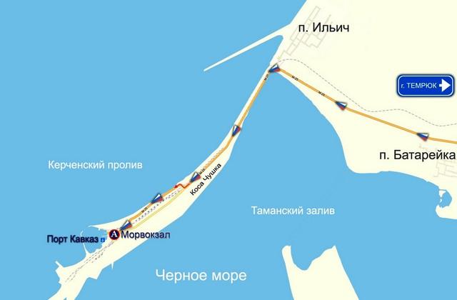 Схема проезда к морскому вокзалу