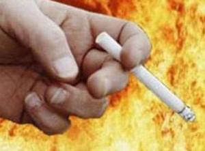 Причина пожара - сигарета