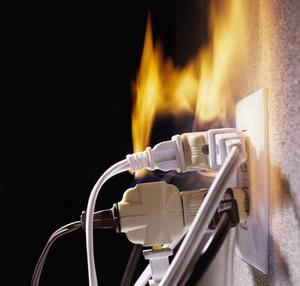 Причина пожара - электропроводка