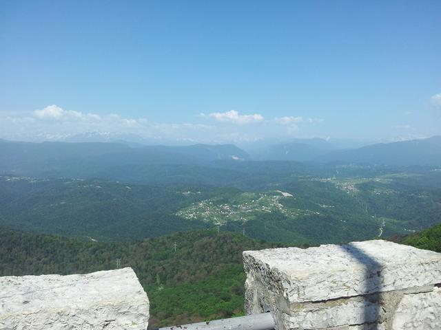 Вид со смотровой башни Ахун Сочи 4