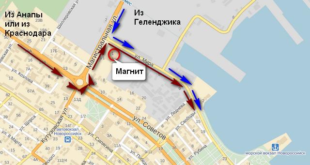 Карта для автомобилистов