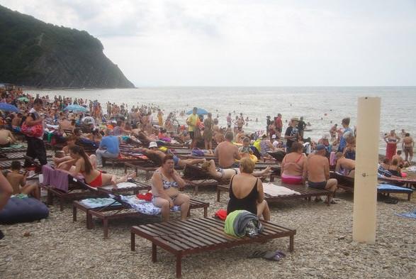 Пляж Архипо-Осиповка 15 июня 2014 года