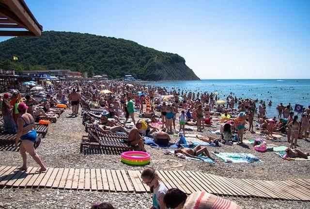Пляж Архипо-Осиповки 16 июня 2014 года