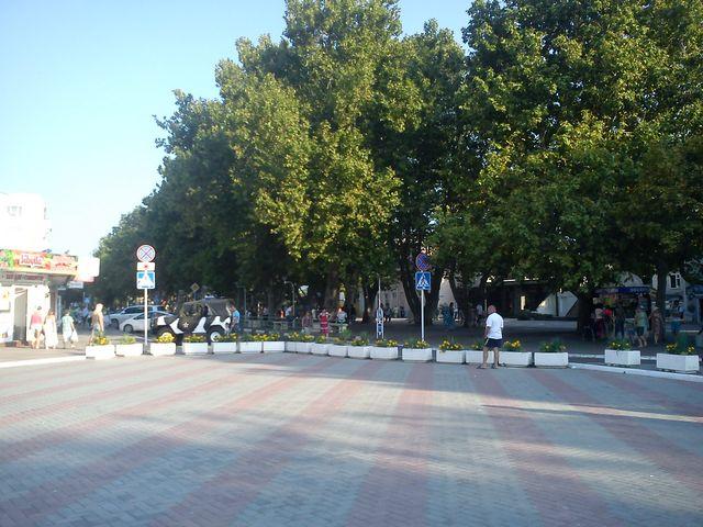Площадь в Геленджике взгляд в другую сторону