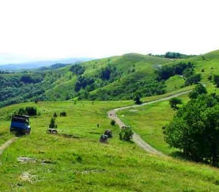 На машине в горы