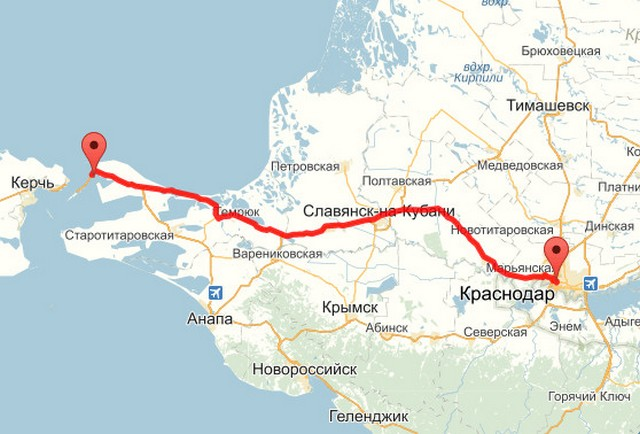 Крым как проехать