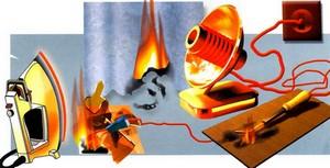 Пожар от электроприборов