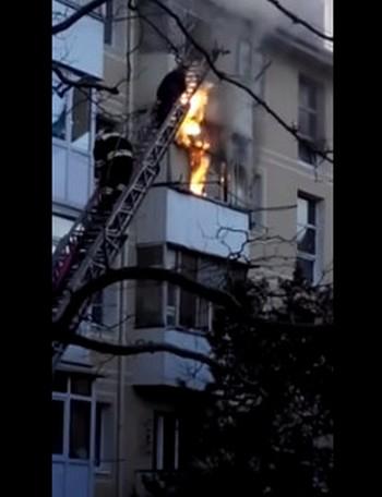 Пожар в Геленджике