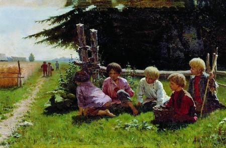 Крестьянские дети рисунок
