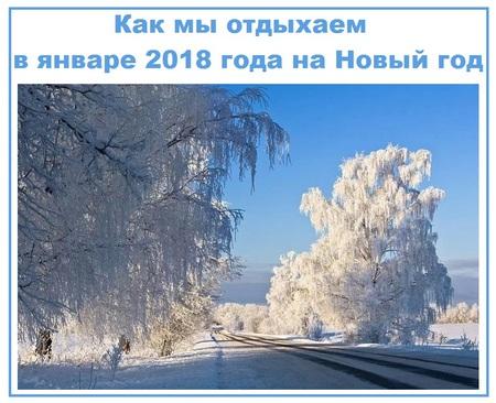 Как мы отдыхаем в январе 2018 года на Новый год