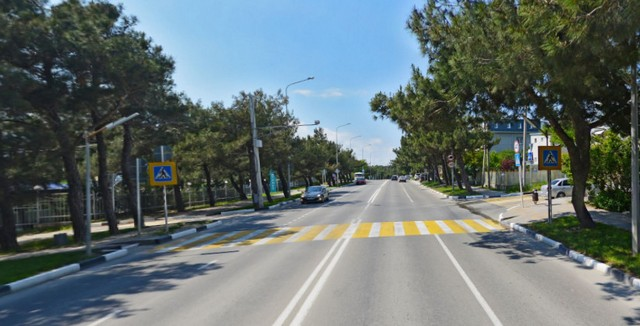 Пешеходный переход улица Луначарского