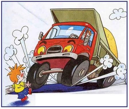 Ребенок и грузовик