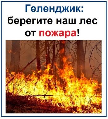 Геленджик берегите наш лес от пожара