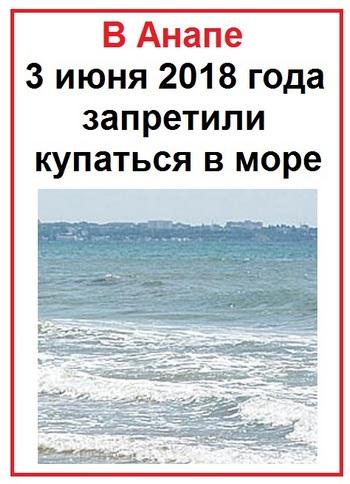 В Анапе запретили купаться