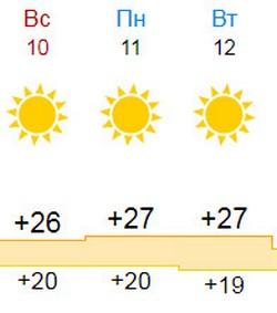 Погода 10 - 12 июня