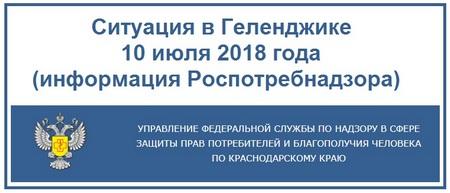 Ситуация в Геленджик 10 июля 2018 года информация Роспотребнадзора
