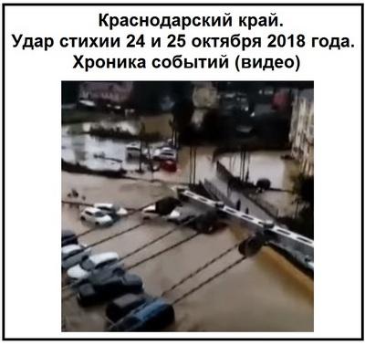 Краснодарский край. Удар стихии 24 и 25 октября 2018 года. Хроника событий (видео)