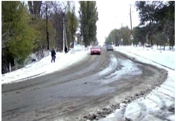 Первый снег на Кубани