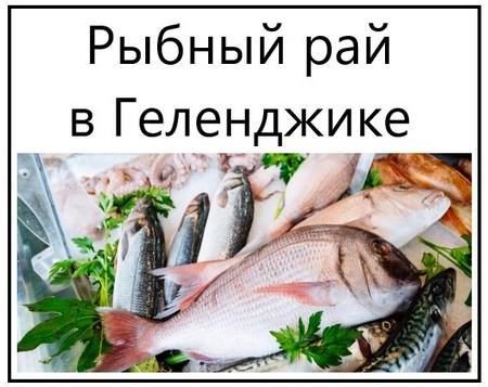 Рыбный рай в Геленджике