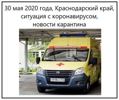 30 мая 2020 года, Краснодарский край, ситуация с коронавирусом, новости карантина