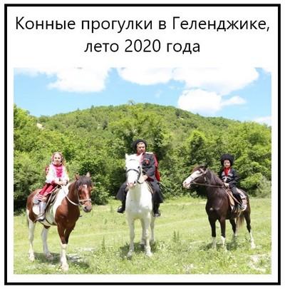 Конные прогулки в Геленджике, лето 2020 года