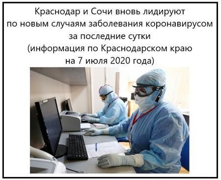 Коронавирус в крае 7 июля 2020 года