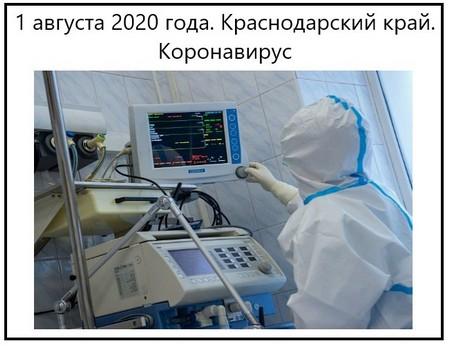 1 августа 2020 года. Краснодарский край. Коронавирус