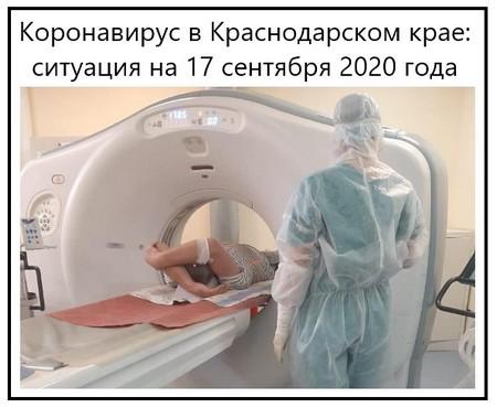 Коронавирус в Краснодарском крае, ситуация на 17 сентября 2020 года