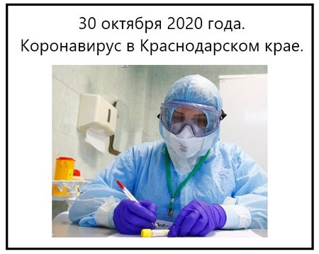 30 октября 2020 года. Коронавирус в Краснодарском крае.