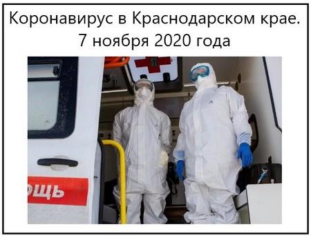 Коронавирус в Краснодарском крае. 7 ноября 2020 года